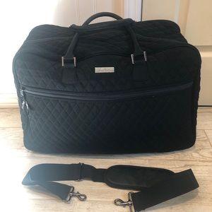 Vera Bradley Black Grand Weekender Travel Bag